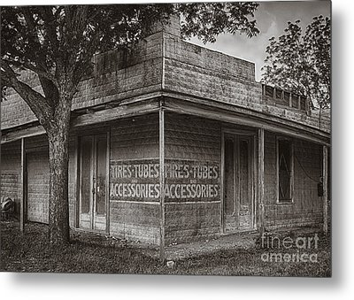 Vintage D'hanis Texas Business Metal Print by Priscilla Burgers