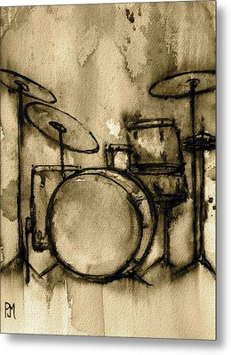 Vintage Drums Metal Print by Pete Maier