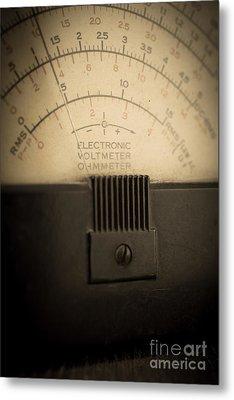 Vintage Electric Meter Metal Print by Edward Fielding