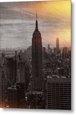 Vintage Empire State Building Metal Print by Dan Sproul