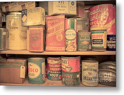 Vintage Food Pantry Metal Print by Edward Fielding