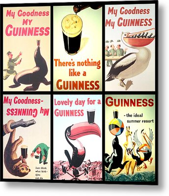 Vintage Guinness  Metal Print by Georgia Fowler