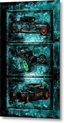 Vintage Hotrods Metal Print by Amanda Struz