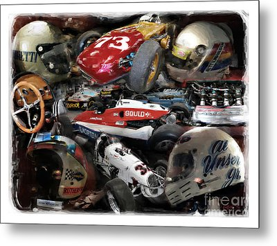 Vintage Indy Metal Print by Tom Griffithe