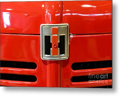 Vintage International Harvester Tractor Badge Metal Print by Paul Ward