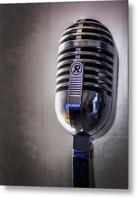 Vintage Microphone 2 Metal Print by Scott Norris