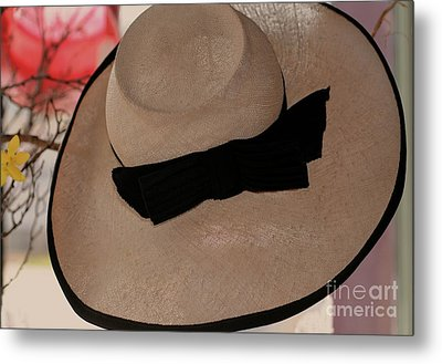Vintage Picture Hat Metal Print by Kathleen Struckle