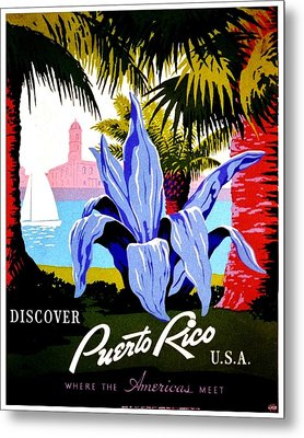 Vintage Poster - Puerto Rico Metal Print by Benjamin Yeager