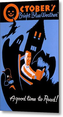 Vintage Poster - Reading - October Metal Print by Benjamin Yeager