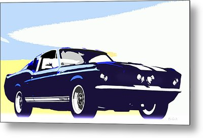 Vintage Shelby Gt500 Metal Print by Bob Orsillo