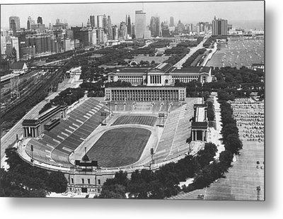 Vintage Soldier Field - Chicago Bears Stadium Metal Print by Horsch Gallery