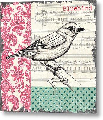 Vintage Songbird 1 Metal Print by Debbie DeWitt