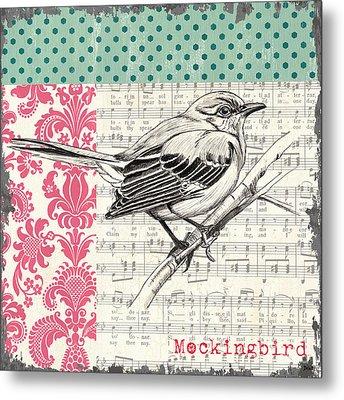 Vintage Songbird 4 Metal Print by Debbie DeWitt