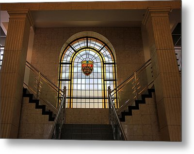 Vintage Stained Glass 1 Metal Print by Andrew Fare