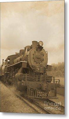 Vintage Steam Locomotive Metal Print by Edward Fielding