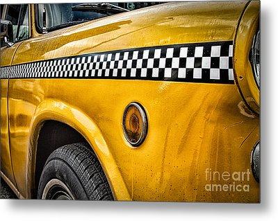 Vintage Yellow Cab Metal Print by John Farnan