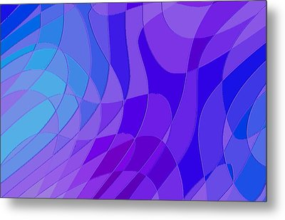 Violet Blue Abstract Metal Print by L Brown