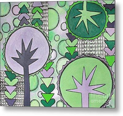 Violet-green Metal Print by Home Art