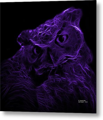 Violet Owl 4229 - F M Metal Print by James Ahn