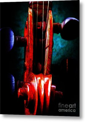 Violin 2 - V2 Metal Print by Wingsdomain Art and Photography