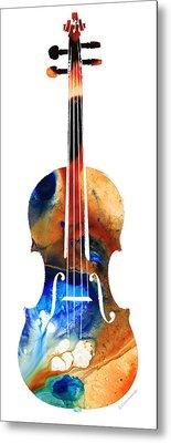 Violin Art By Sharon Cummings Metal Print by Sharon Cummings