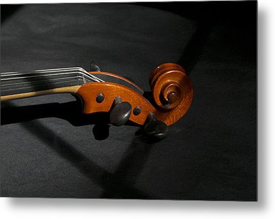 Violin In Shadow Metal Print by Mark McKinney