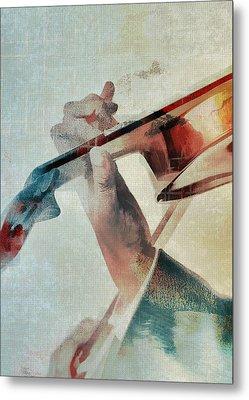Violinist Metal Print by David Ridley