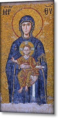 Virgin Mary And Christ Child Metal Print by Stephen Stookey