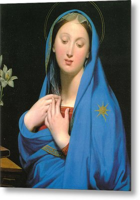 Virgin Of The Adoption Metal Print by Jean Auguste Dominique Ingress