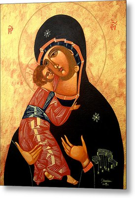 Virgin Of Vladimir Metal Print by Joseph Malham