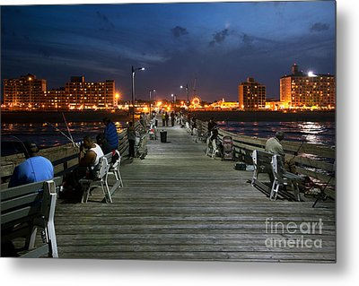 Virginia Beach Fishing Pier Metal Print by Bill Cobb