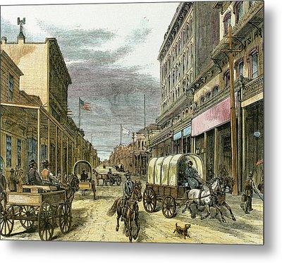 Virginia City In 1870 Metal Print by Prisma Archivo