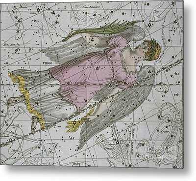 Virgo From A Celestial Atlas Metal Print by A Jamieson