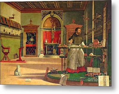 Vision Of St. Augustine Metal Print by Vittore Carpaccio