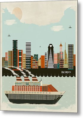 Visit Baltimore Maryland Metal Print by Bri B
