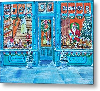 Visit To The Toy Shop Santa Metal Print by Gordon Wendling