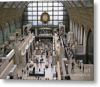Visiting The Musee D'orsay Metal Print by Ann Horn