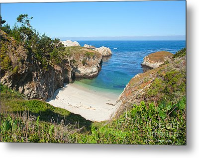 Vista Of China Cove At Point Lobos State Reserve California Metal Print by Artist and Photographer Laura Wrede