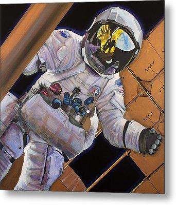 Vitruvian Man- Alan Bean.  Metal Print by Simon Kregar