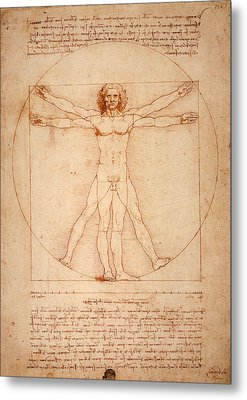 Vitruvian Man Metal Print by Bill Cannon