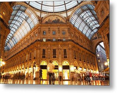Vittorio Emanuele II Gallery Milan Italy Metal Print by Michal Bednarek