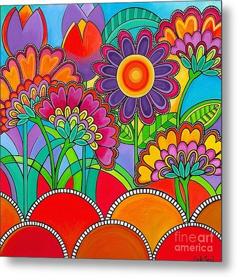 Viva La Spring Metal Print by Carla Bank