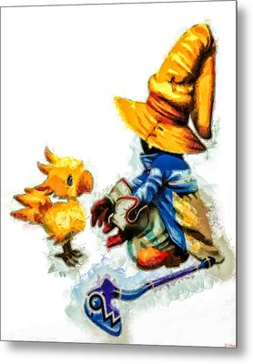 Vivi And The Chocobo Metal Print by Joe Misrasi