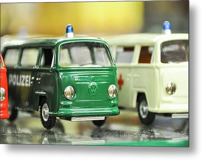 Volkswagen Miniature Cars Metal Print by Photostock-israel