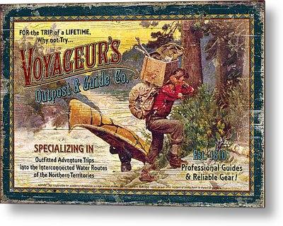 Voyageurs Outpost Metal Print by JQ Licensing