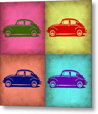 Vw Beetle Pop Art 1 Metal Print by Naxart Studio