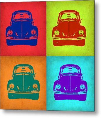 Vw Beetle Pop Art 5 Metal Print by Naxart Studio
