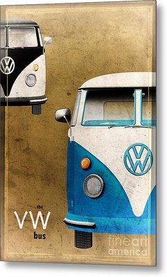 Vw The Bus Metal Print by Tim Gainey