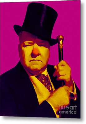 W C Fields 20130217 Metal Print by Wingsdomain Art and Photography