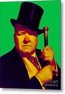 W C Fields 20130217p180 Metal Print by Wingsdomain Art and Photography